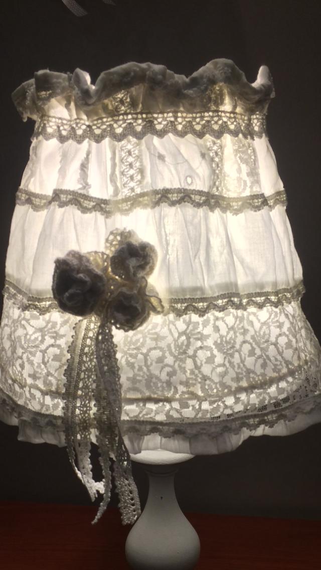 Shabby lampka handmade