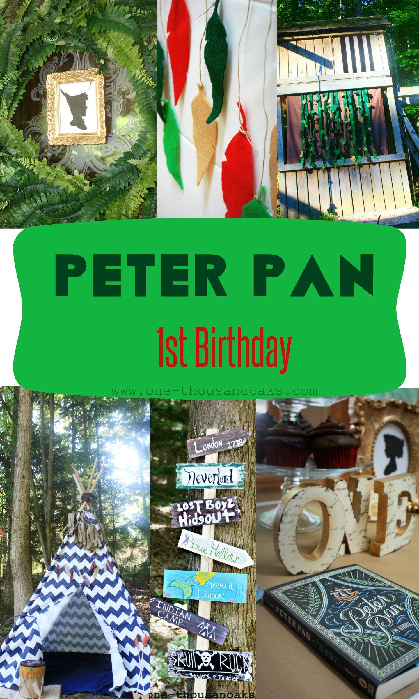 peter pan 1st birthday party planning pinterest mottos geburtstage und ideen. Black Bedroom Furniture Sets. Home Design Ideas