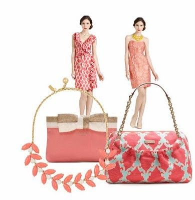 honeysuckle, pantone, design, pink, #colortrend, fashion, handbag, jewelry, dress, coral