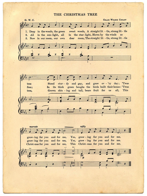 Vintage Christmas Printable - Holiday Sheet Music ...