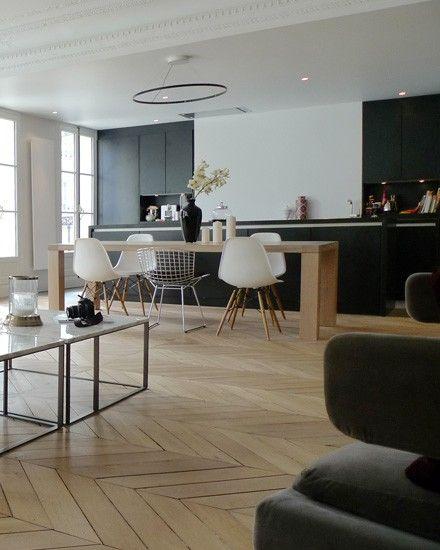 Une déco entre tradition et modernité | Interiors, Kitchens and ...