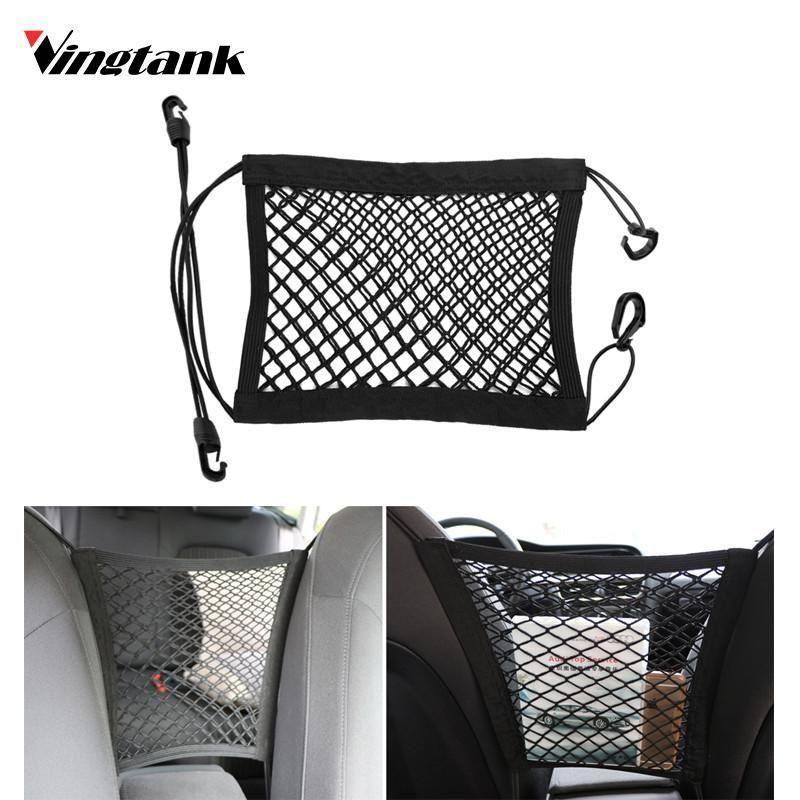 2X Universal Car Seat Back Storage Elastic Mesh Net Bag Luggage Holder Pocket