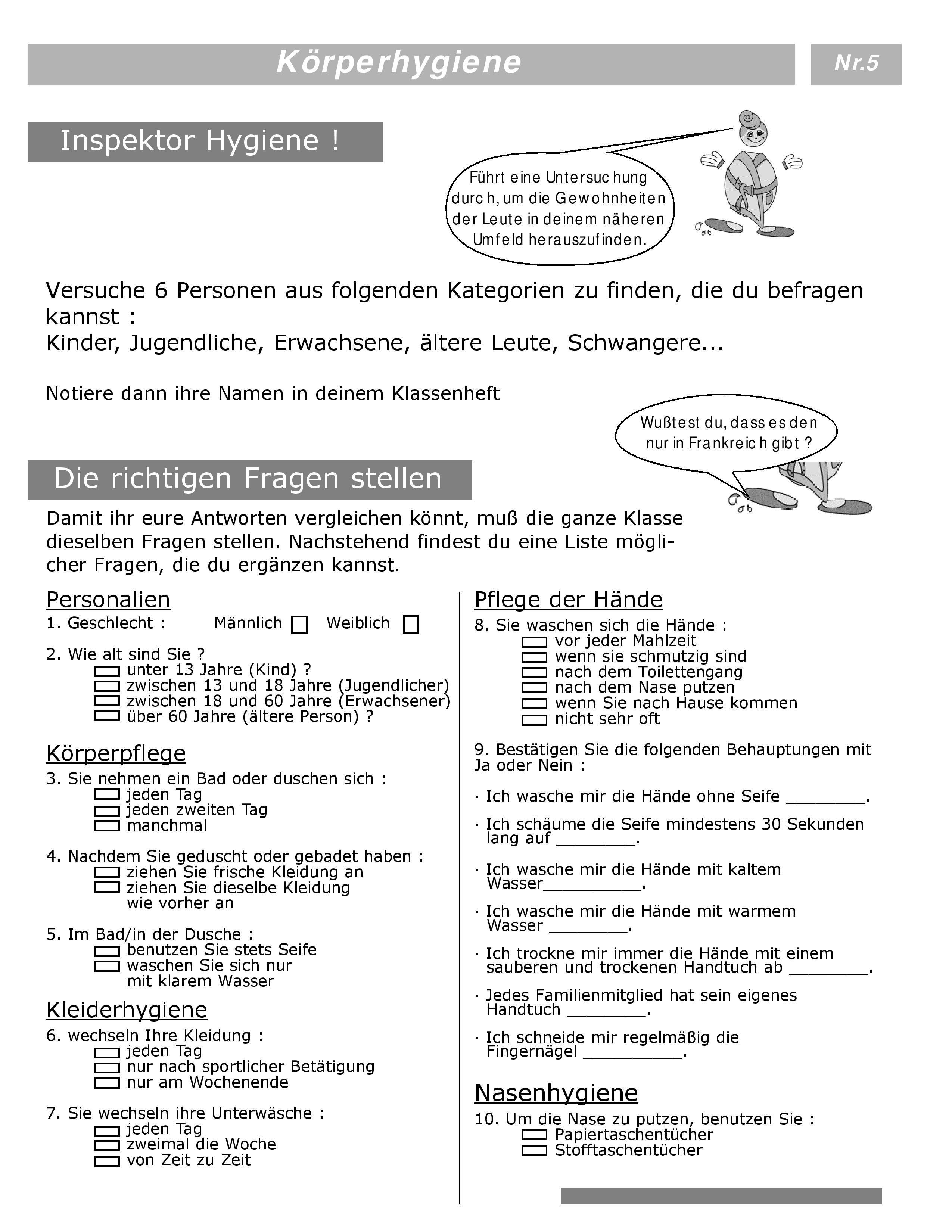 Pädagogische Arbeitsblätter und Unterrichtsmaterial zur Durchführung ...