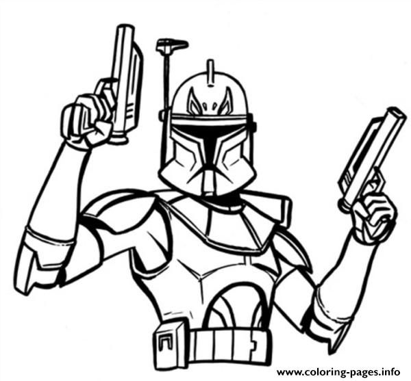 Print Star Wars Captain Rex Coloring Pages Star Wars Coloring