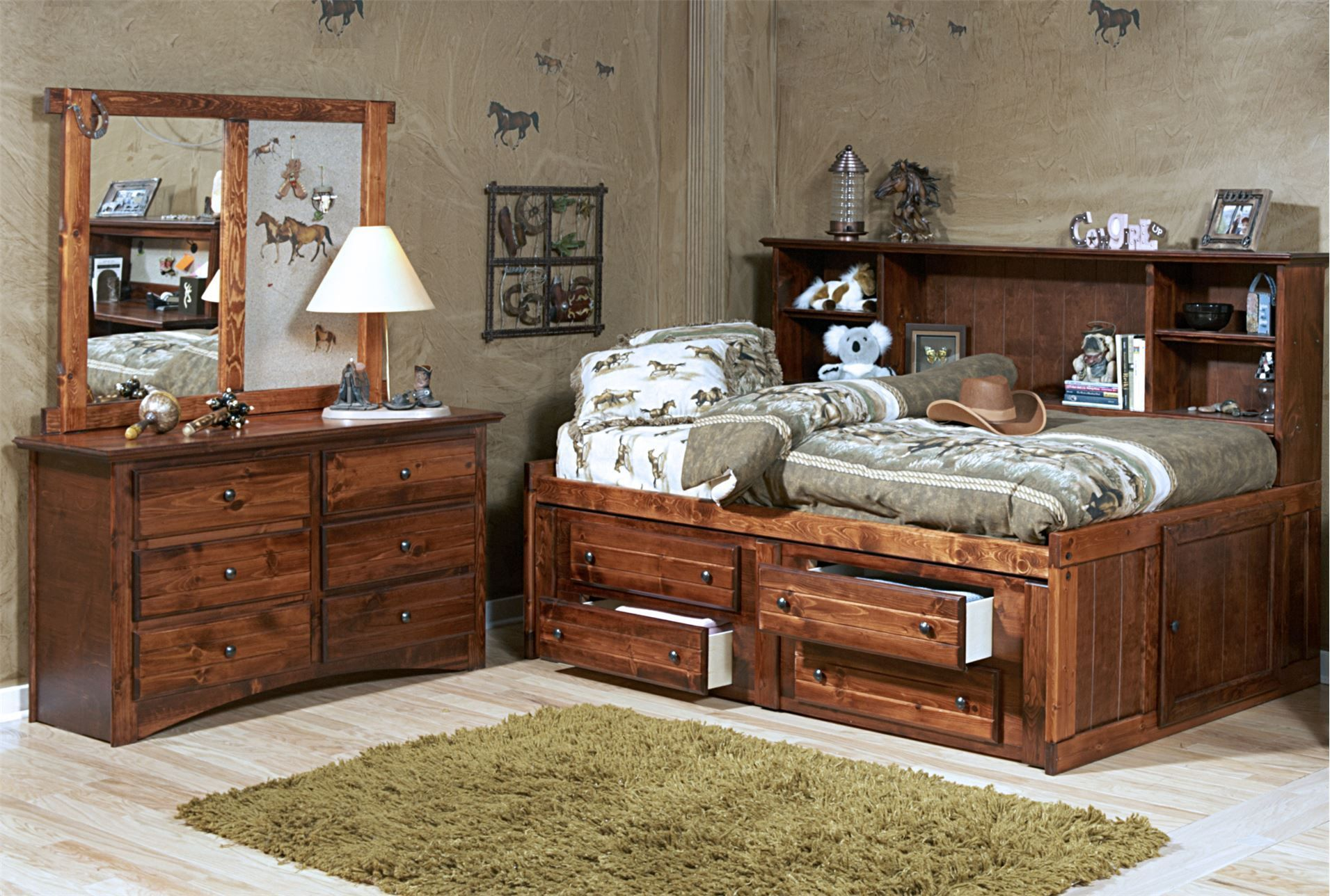 Sedona Full Bookcase Daybed Bed With 2 Drawer Captains