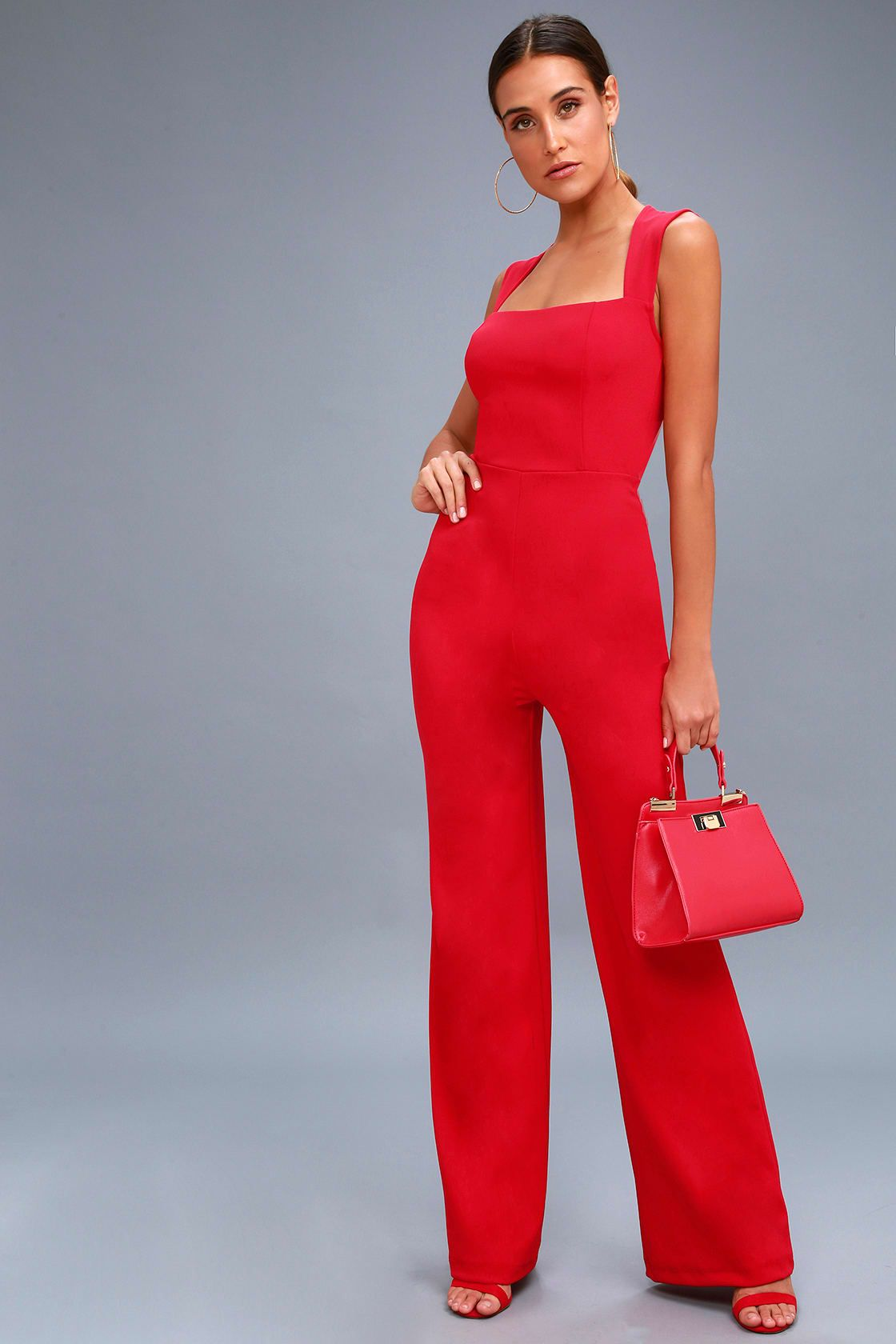 cf8794017759a4 Lulus   Enticing Endeavors Red Jumpsuit   Size Large in 2019   Hair ...