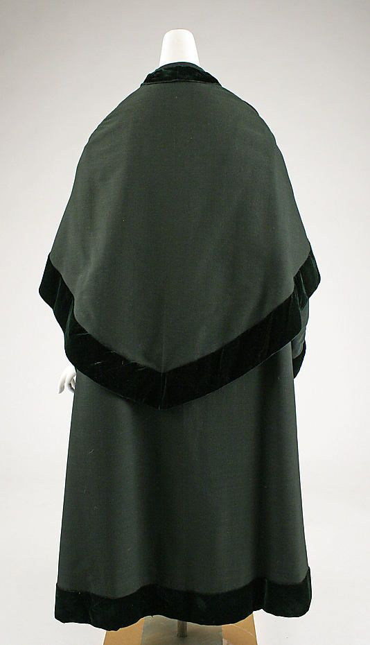 Cloak, mid 19th century, American, wool - MM collection