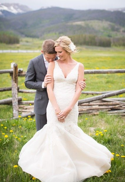 LWD Bride: Carlie's Romantic Ranch Wedding in Colorado | Liancarlo Style 5843 | Little White Dress Bridal Shop: Denver Bridal Gowns & Wedding Dresses