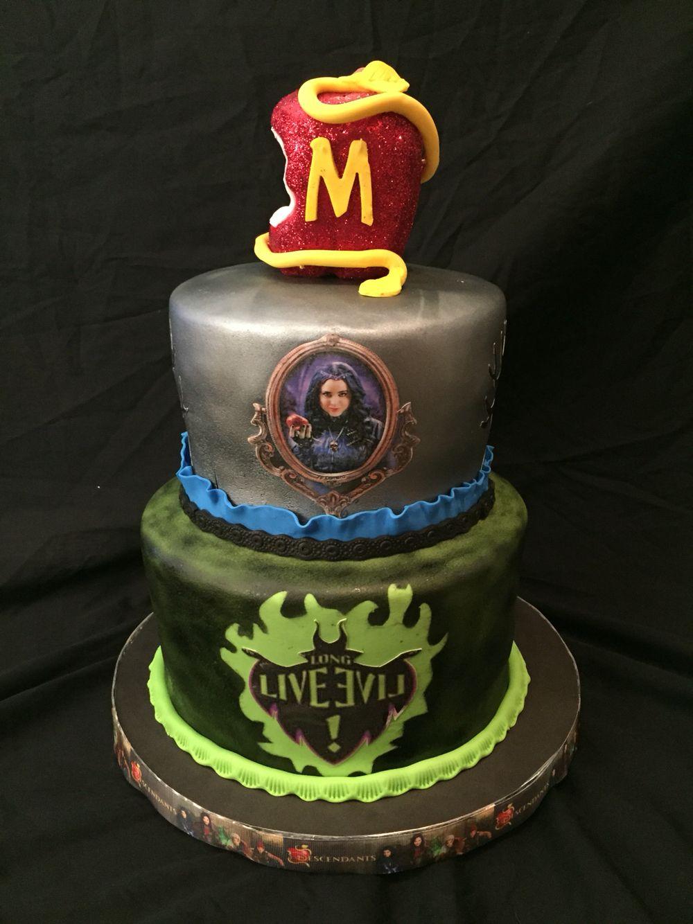 Disney Descendants cake Mad Batter Bakery Sherri Pinterest