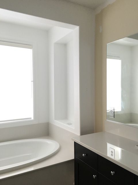 How I Chose My Bathroom Paint Color And Why I Hired A Painter Bathroom Paint Colors Painting Bathroom Antique White Paints