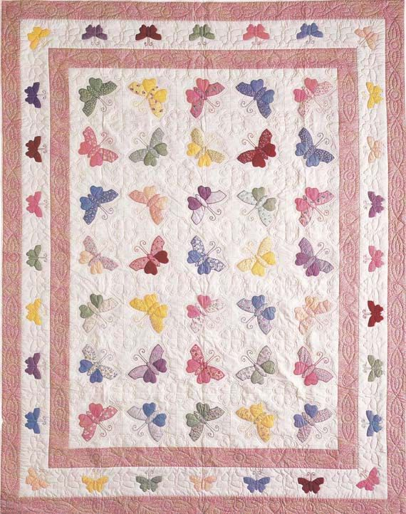 Butterfly Quilt By Shabbyminiquilts On Etsy Applique