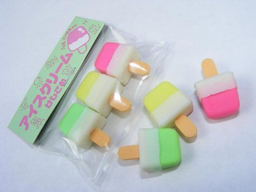 kawaii japanese ice cream erasers designed and made in japan by iwako iwako makes many food erasers great for playing house