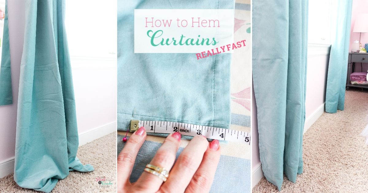 How to Hem Curtains Really Fast in 2020 How to hem