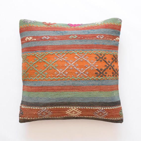 Kilim rug pillow cover 22