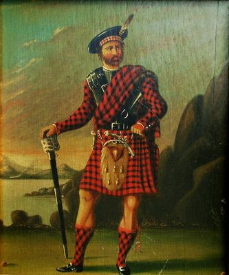 Early 19th Century Scottish Portrait of Robert Roy MacGregor also known as Rob Roy (1671-1734).  Painting is unsigned.