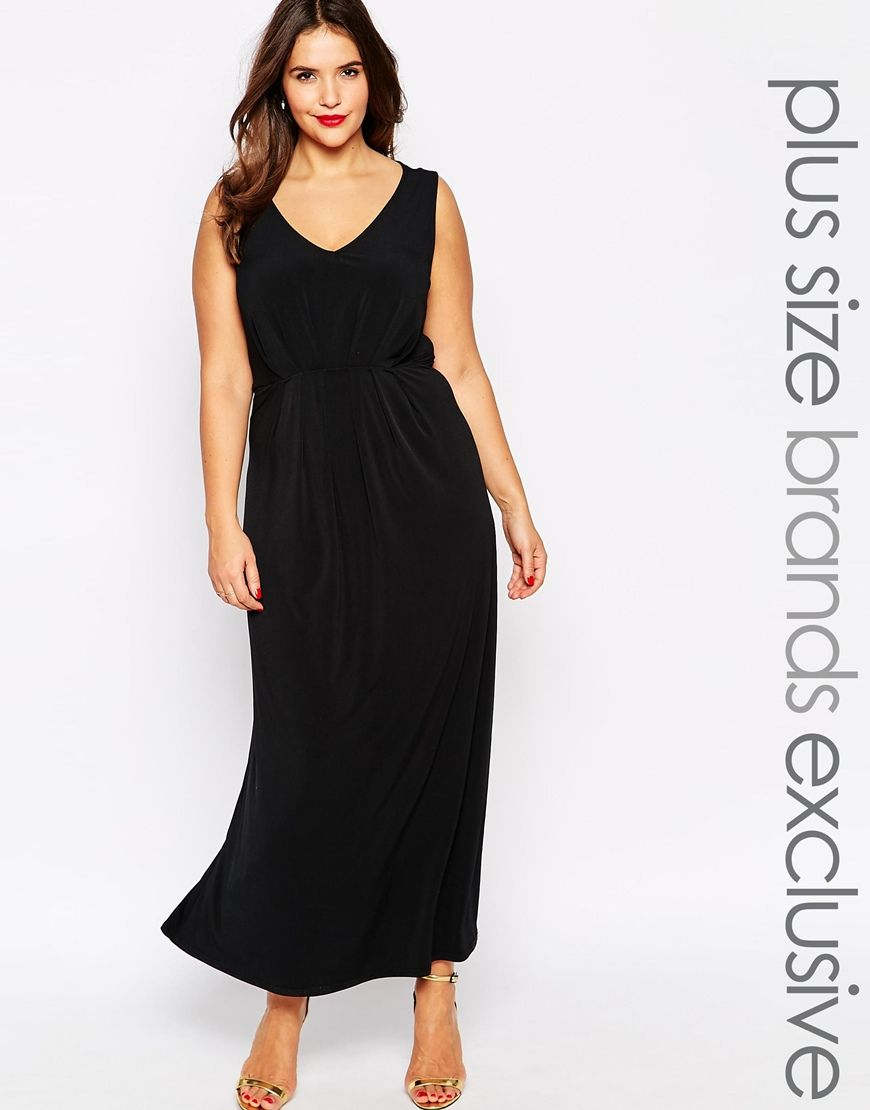 5afb13da1 Image 1 of New Look Inspire Pleat Front Maxi Dress