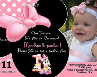 Baby minnie mouse first birthday invitation by letspartyshoppe baby minnie mouse first birthday invitation by letspartyshoppe filmwisefo Image collections