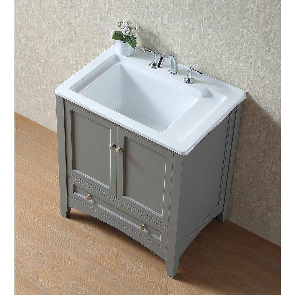 Stufurhome Manhattan 30 5 In X 22 In Acrylic Laundry Sink In