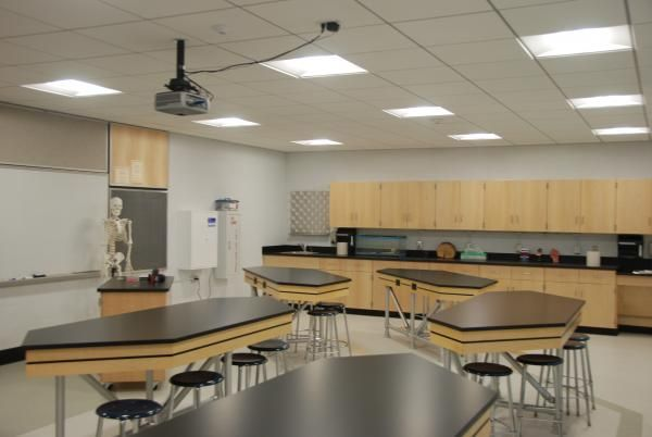 Classroom Design Secondary ~ High school science lab layout http