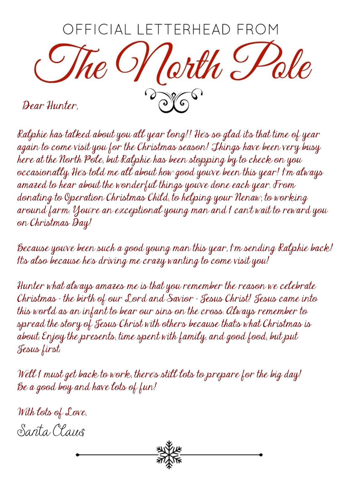 Elf on the Shelf Arrival Letter Jesus Version 2017