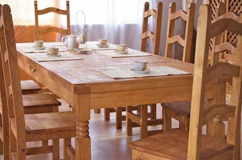 Esgruppe 250cm Hacienda - #Esstisch \ 10 #Stühle - Pinie massiv - küchentisch mit stühlen