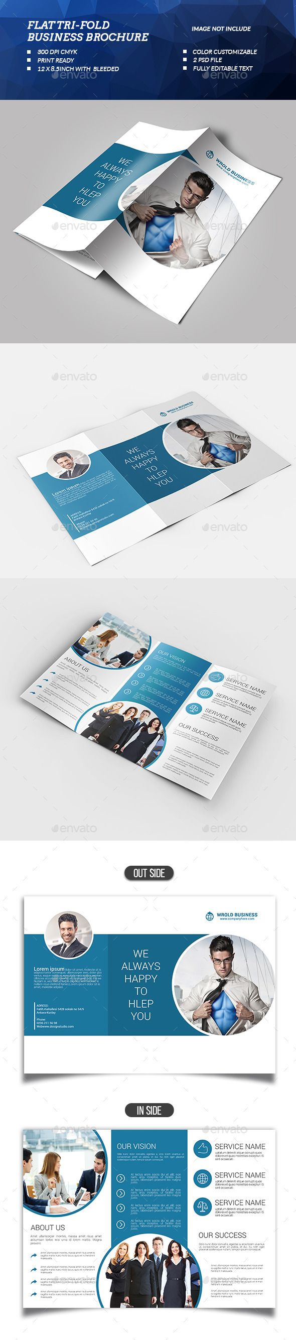 flat tri fold business brochure template design download httpgraphicrivernetitemflat trifold business brochure 13179036refksioks