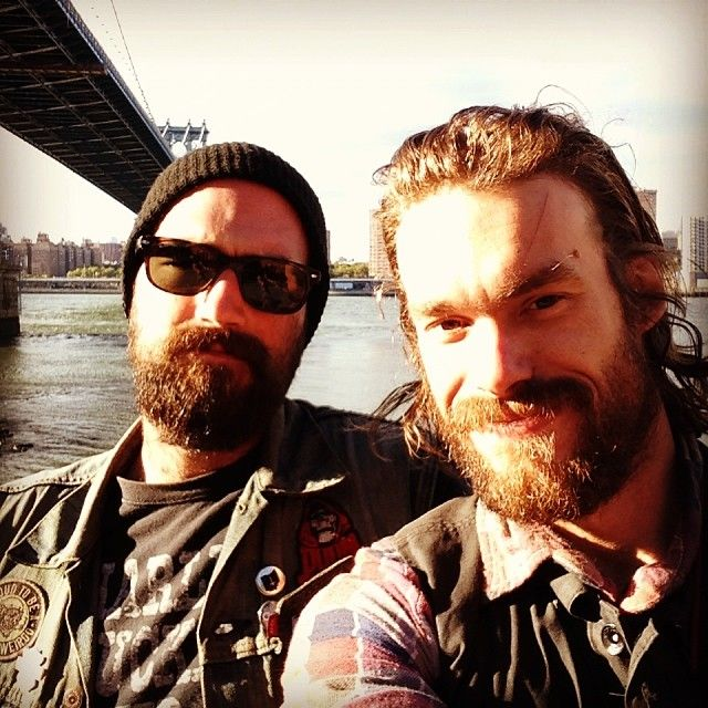 That one time Todd and I took selfies in #NYC… #tbt #thesearethegoodolddays (at Manhattan Bridge)