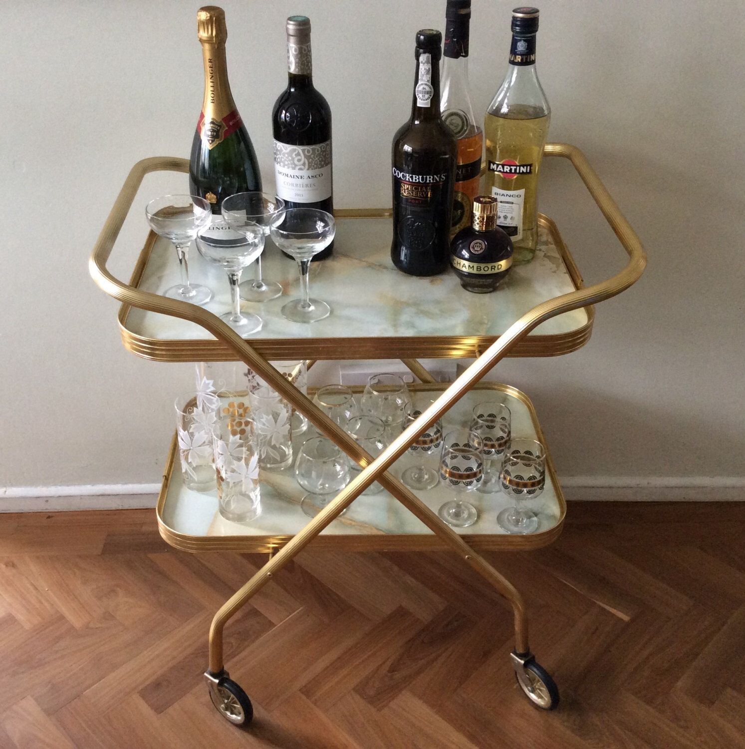 vintage bar cart drinks trolley folding brass faux marble rolling vintage bar cart drinks trolley folding brass faux marble rolling mid century modern folding tea trolley hostess home bar table cabinet 5000