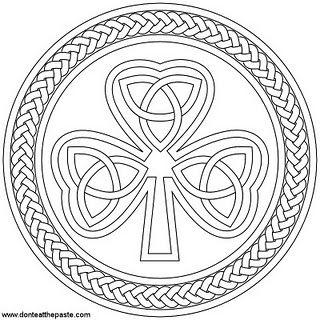Shamrock Printable Box And Coloring Page Shamrock Printable Celtic Coloring Coloring Pages