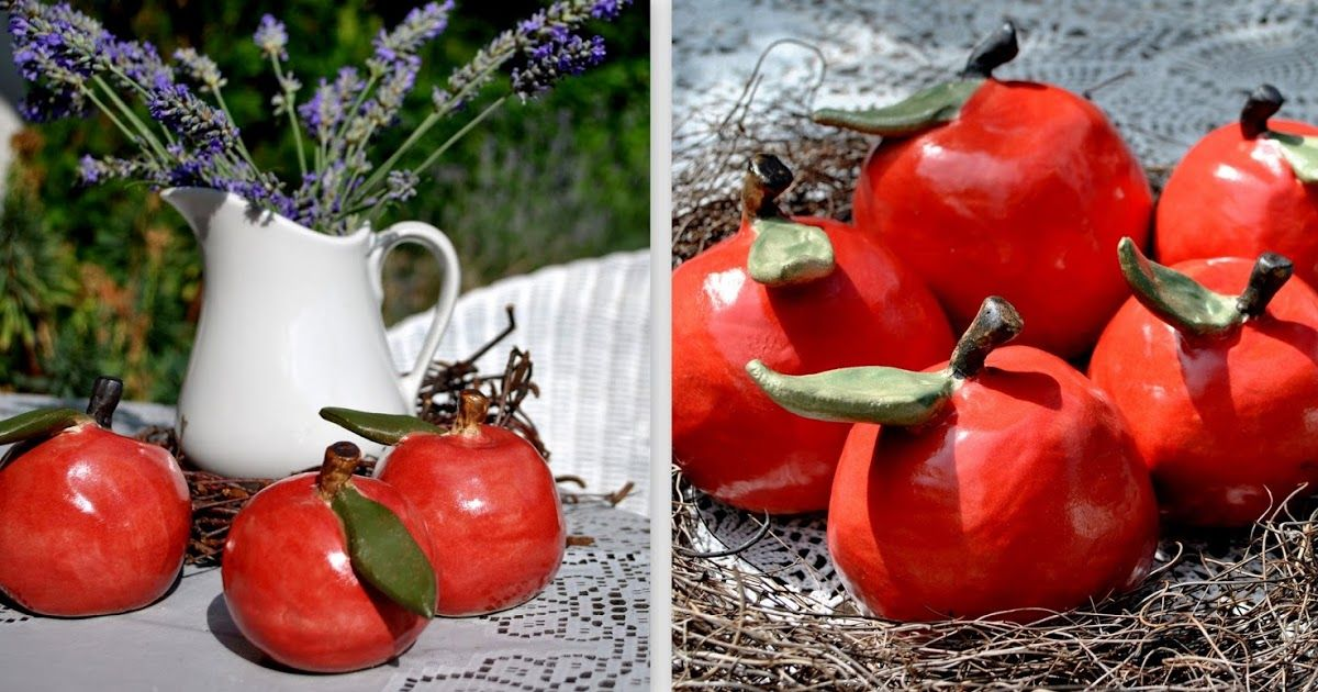 Keramikapfel Modellieren Keramik Knetbeton Keramik Kunst