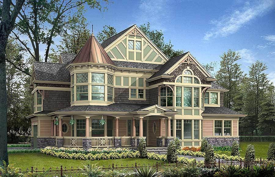Plan 23167jd Impressive Luxurious Victorian House Plan Victorian House Plans Modern Victorian Homes Victorian Homes