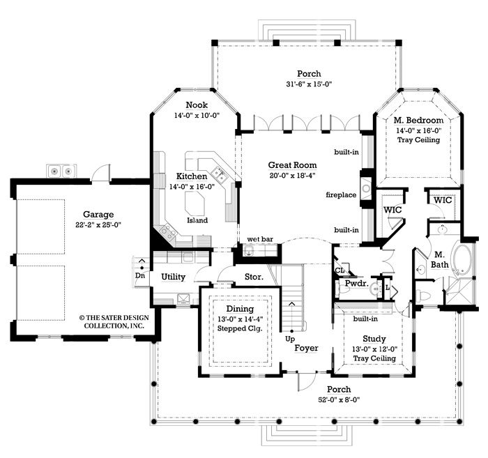Oak island house plan oak island farmhouse plans and for Sater design house plans