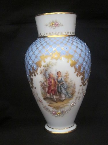 Hand Painted Dresden Vase Antique Porcelains Pinterest Dresden