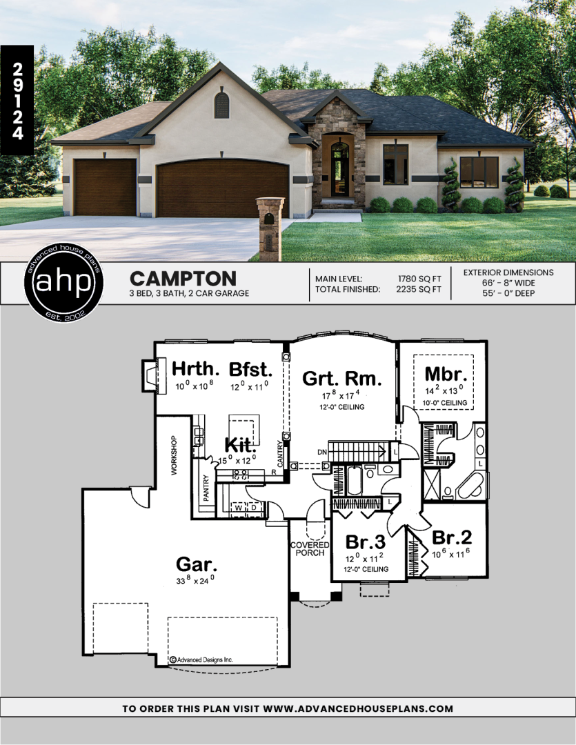 1 Story Traditional House Plan Campton Craftsman House Plans Traditional House Plan Rustic Houses Exterior
