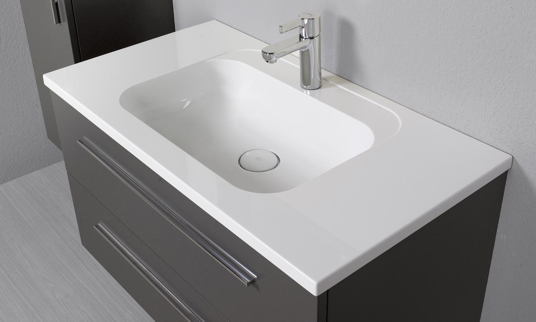 meuble salle de bain avec vasque intégrée