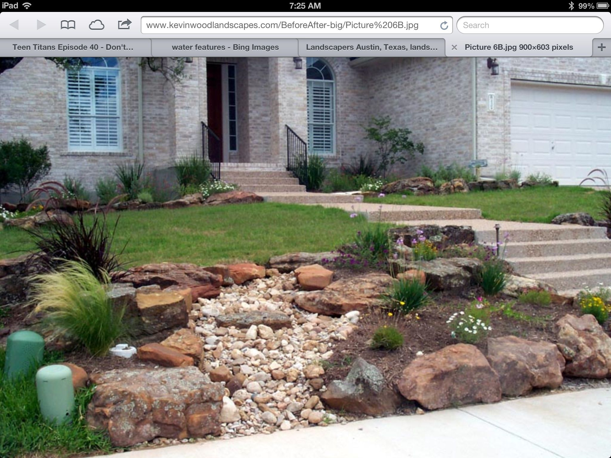 Rock garden flowers pinterest rock gardens and yards for Rock landscaping ideas