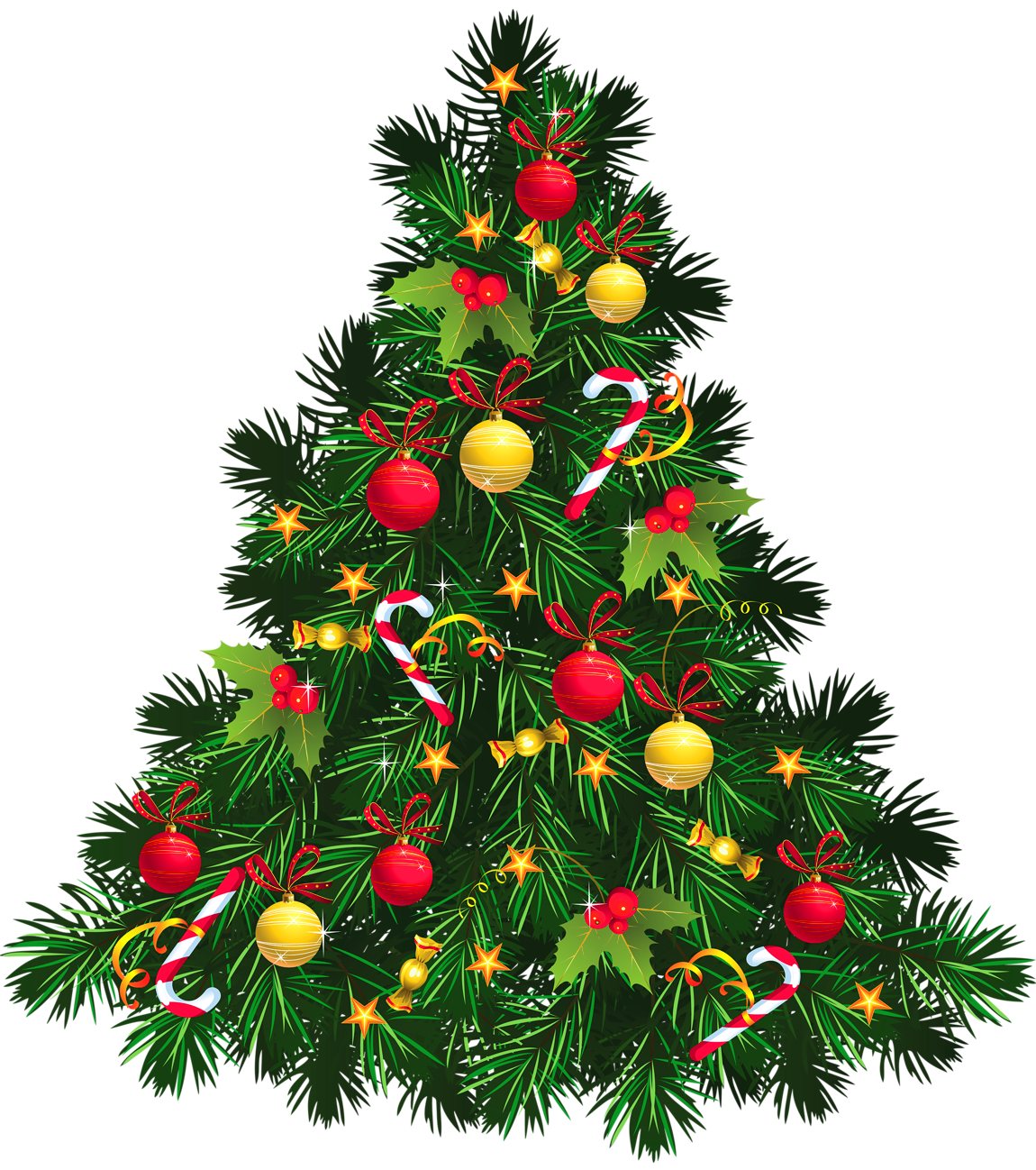 Transparent Christmas Tree with Ornaments PNG Picture | CLIPART ...