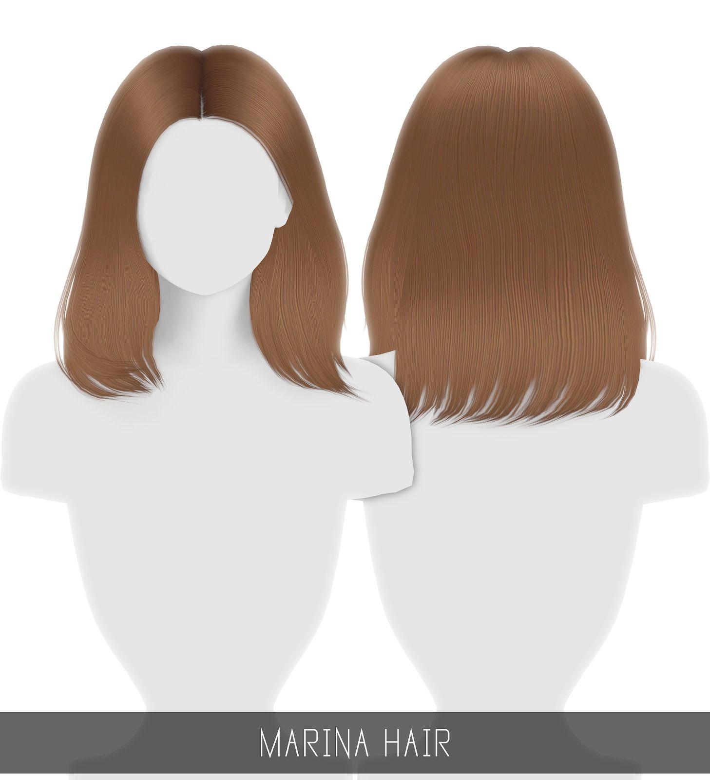 Simpliciaty Maria Hair Sims 4 Hairs Sims 4 Sims Hair