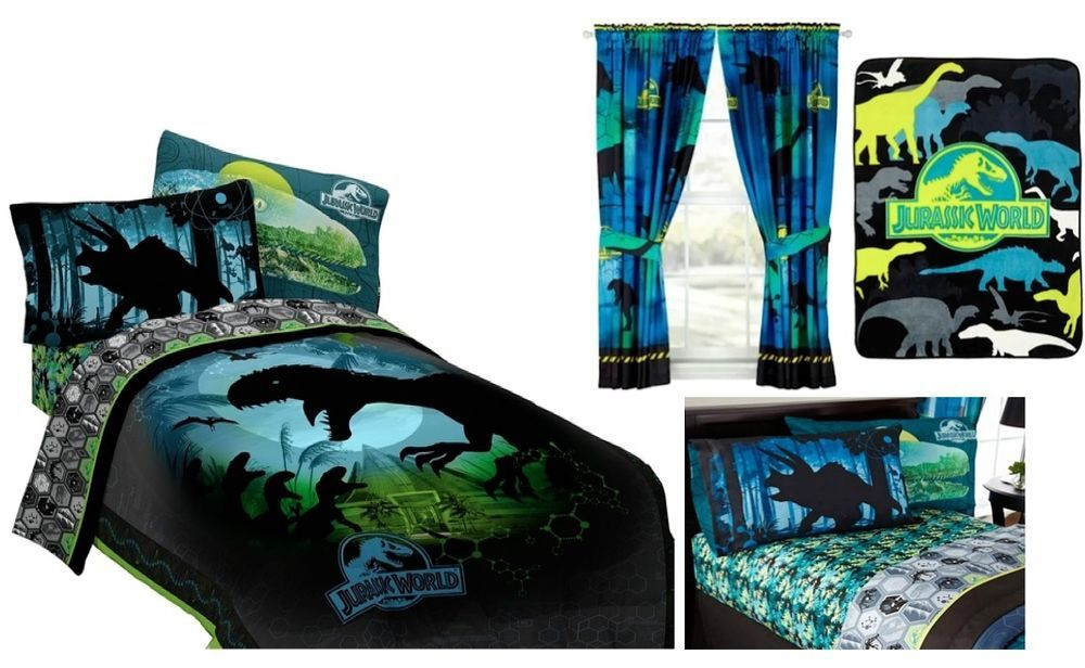 Kids Girls Boys Jurassic World Dinosaurs Bed In A Bag