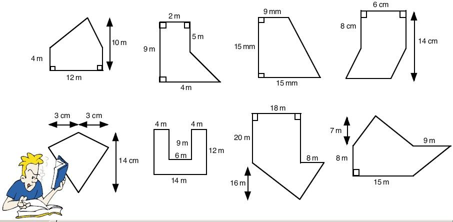 Area of Polygons Worksheets Free | Calculating the area of composite ...