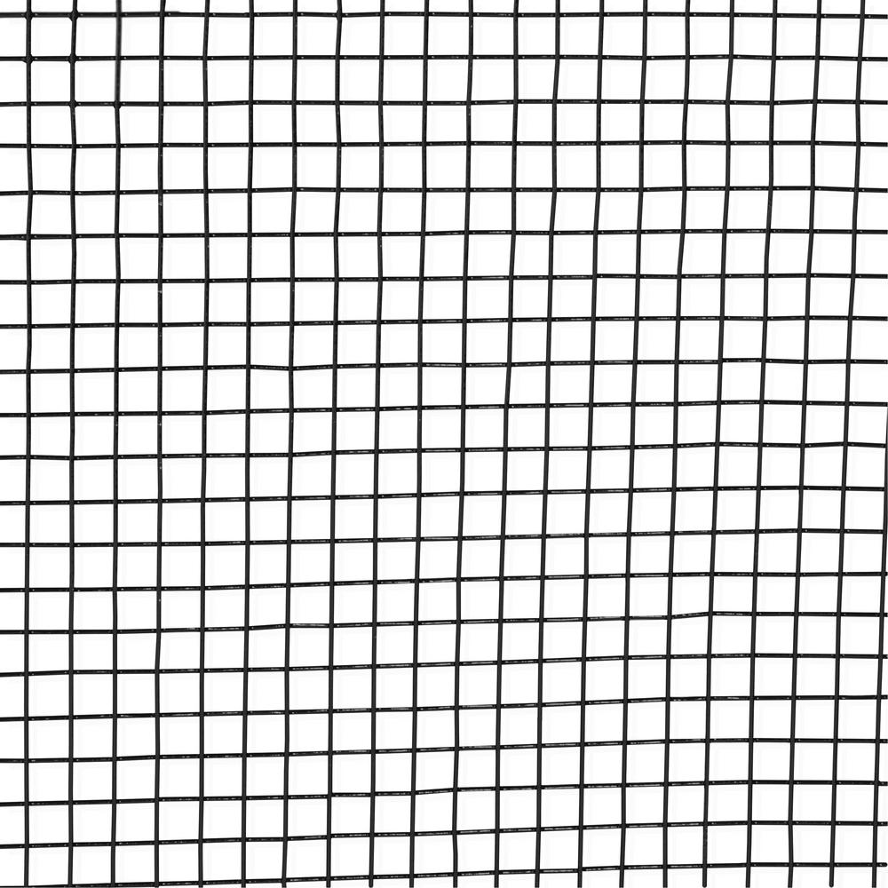 Fencer Wire 4 Ft X 100 Ft 16 Gauge Black Pvc Coated Welded Wire Fence With Mesh Size 1 2 In X 1 2 In Wv16 B4x100mh Welded Wire Fence Wire Fence Fencer Wire