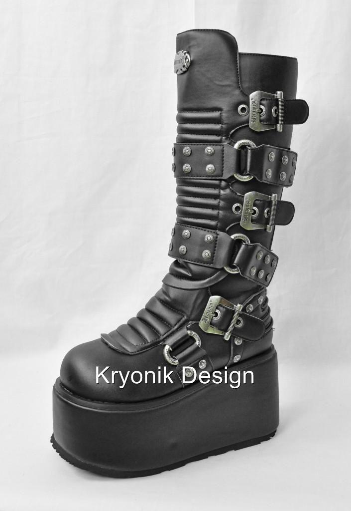 Demonia RIPSAW 520 Goth Gothic Platform Cyber Platform Gothic Knee High Stiefel ... d6e586