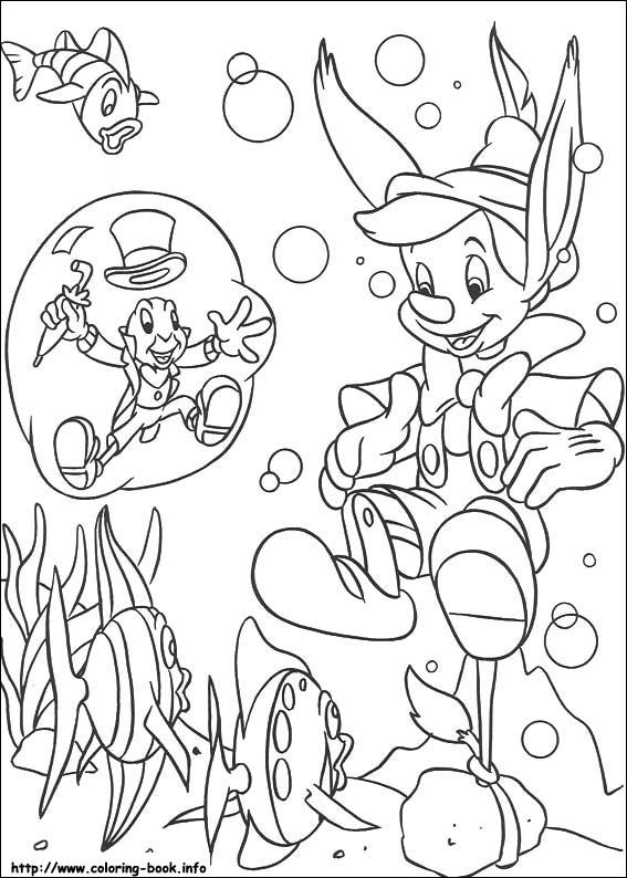 Pinocchio Jimini Cricket Coloring Page Disney Coloring Pages Cartoon Coloring Pages Coloring Pages