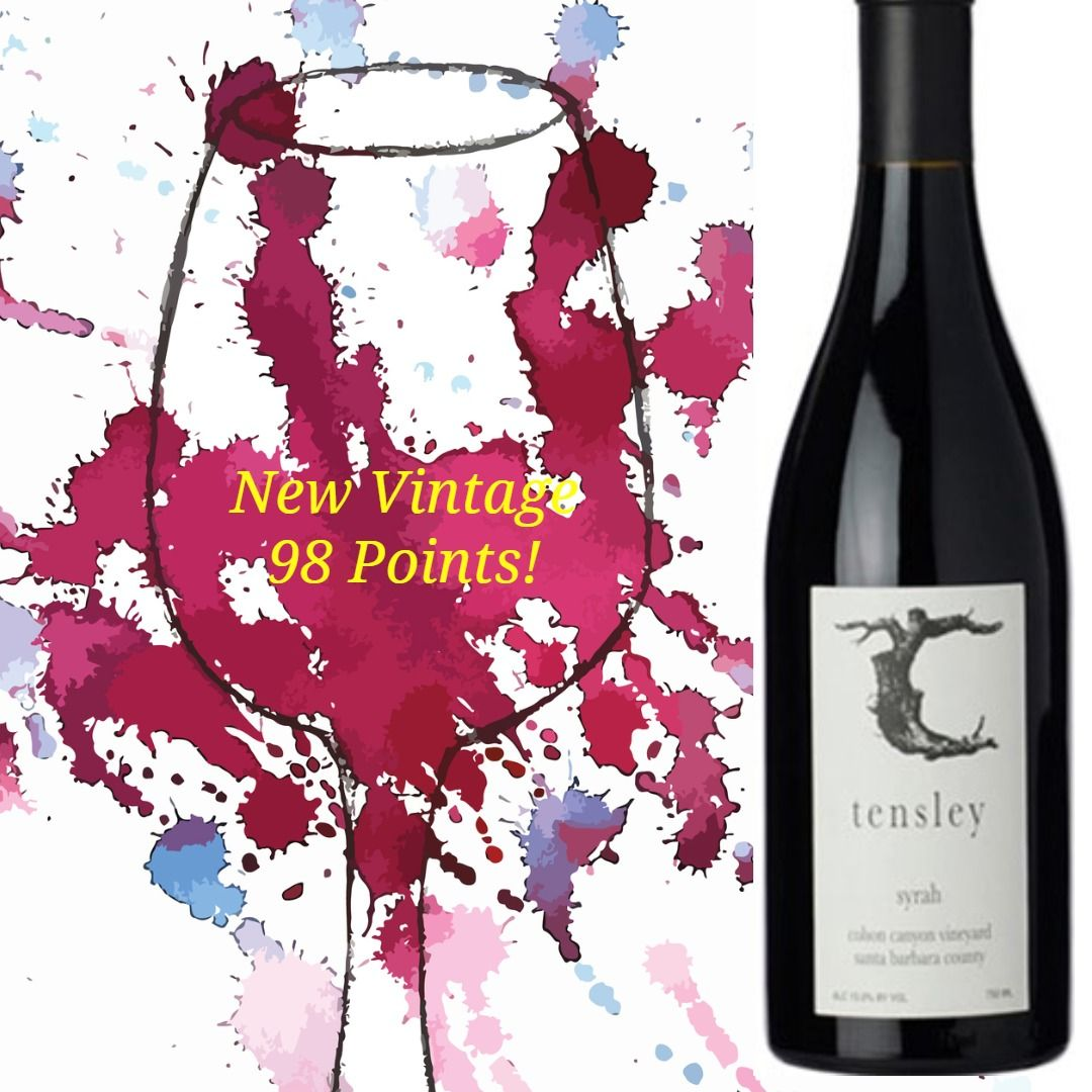 Tensley Syrah Colson Canyon Vineyard 2018 In 2020 Wines Santa Barbara County Wine Access