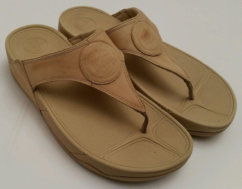 bfa5606b8 FITFLOP Walkstar III Maple Sugar Nubuck Slip On Thong Sandals Women Size 10  US  FITFLOP  FlipFlops  Casual