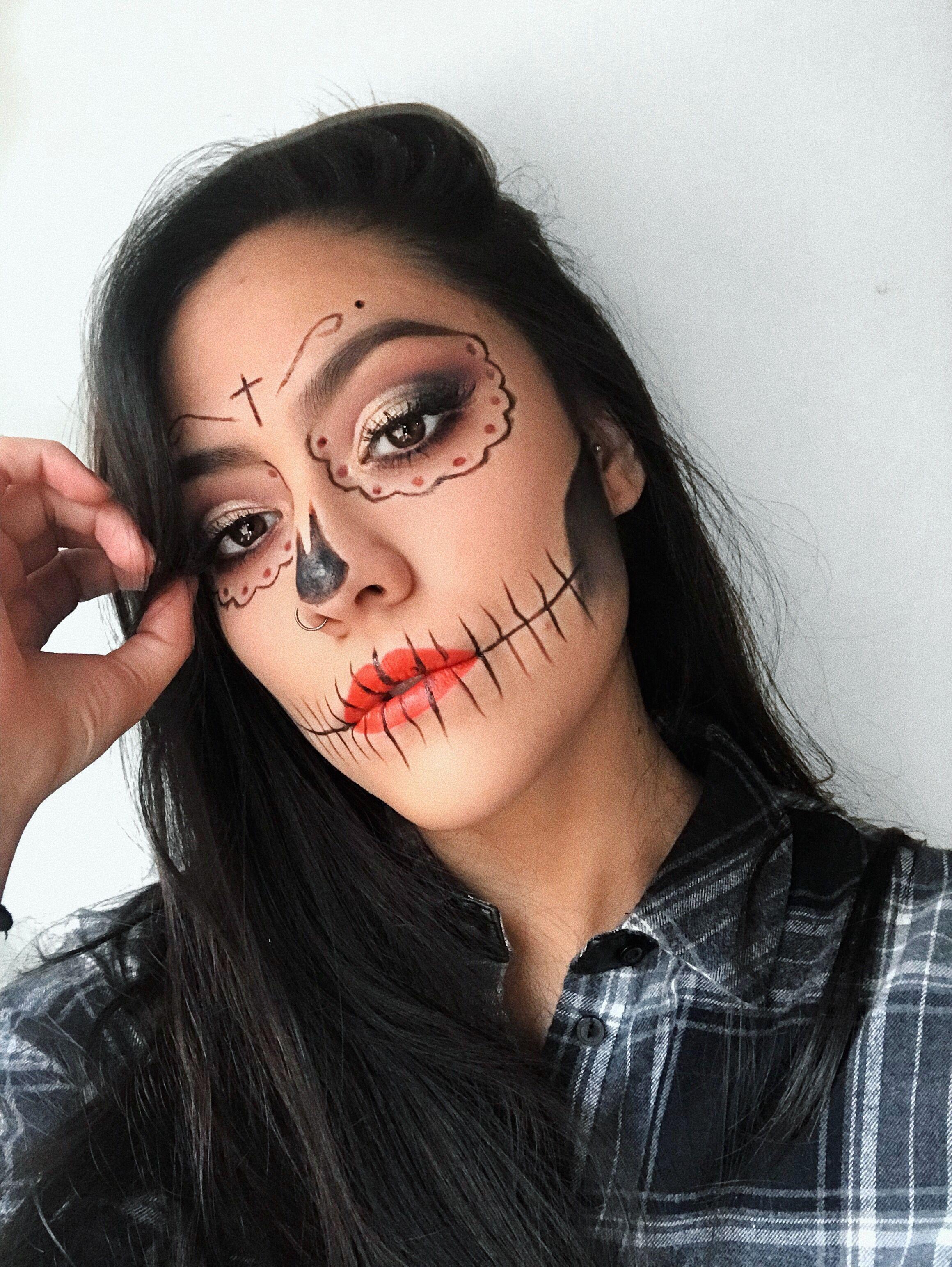 Videos De Maquillaje De Halloween.Catrina Maquillaje Para Halloween Dia De Muertos Super Facil Y