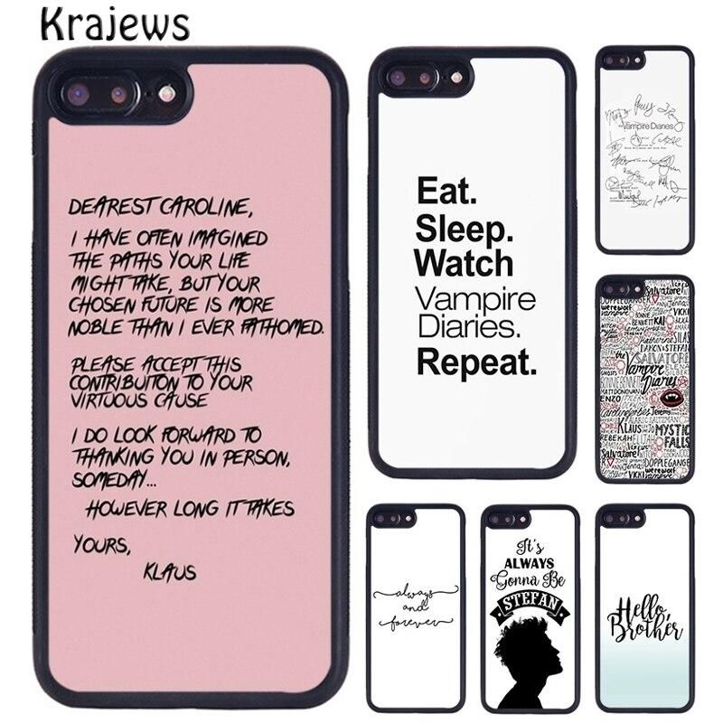 Vampire Diaries Quote Case For Iphone 5s 6s 7 8 Plus X Xr Xs 11