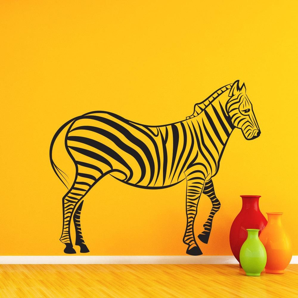 Visit to Buy] Zebra Silhouette Wall Decals Africa Jungle Animal Wall ...