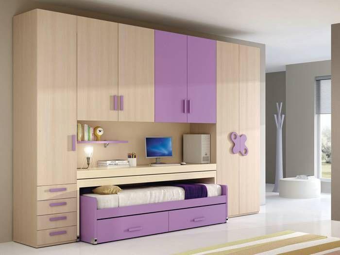 Camerette Nardi ~ Un armadio a ponte tutto per lo studio dove il vostro divano letto