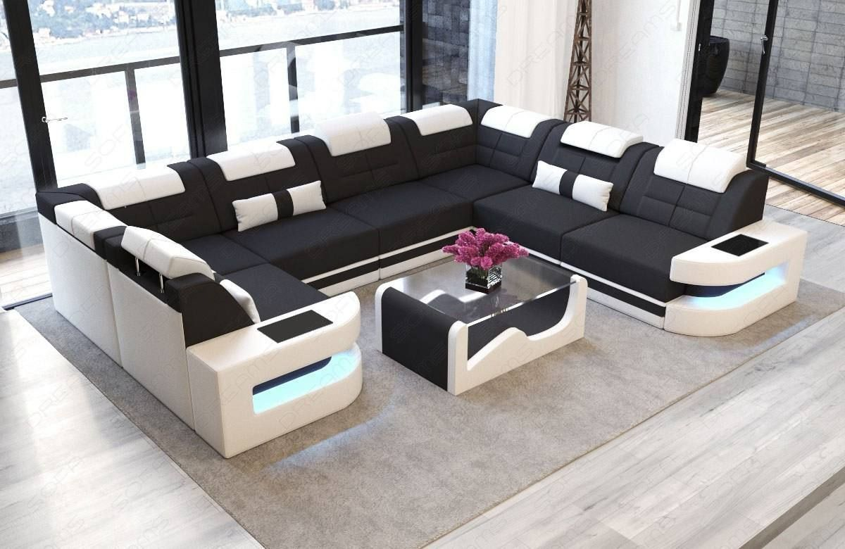 Premium Fabric Sofa Denver U With Images Large Sectional Sofa